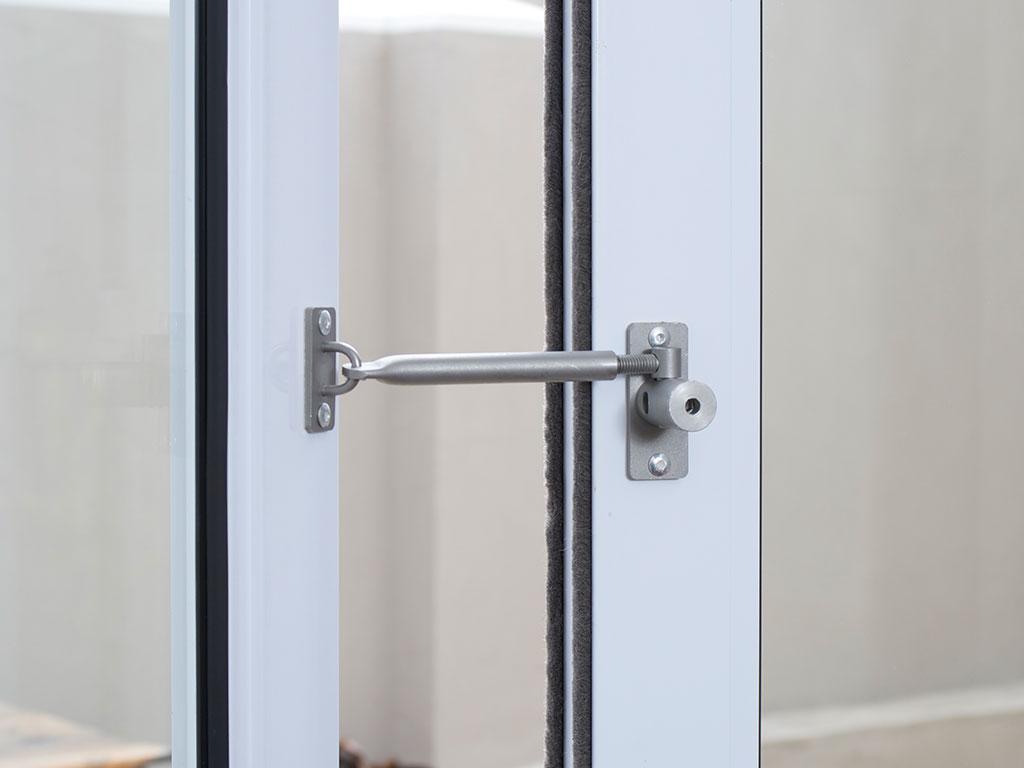 Leave any window or door open but locked locklatch secure patio door open but locked rubansaba