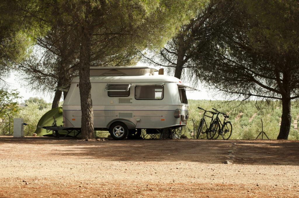 caravan-near-trees